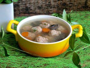 Грибной суп с фрикадельками
