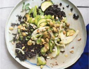 черный рис с овощами вегетарианские блюда