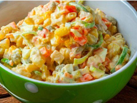 салат рисовый вегетарианский